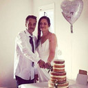 Christine and Leroy Marriage Cutting the Cake 13May2018