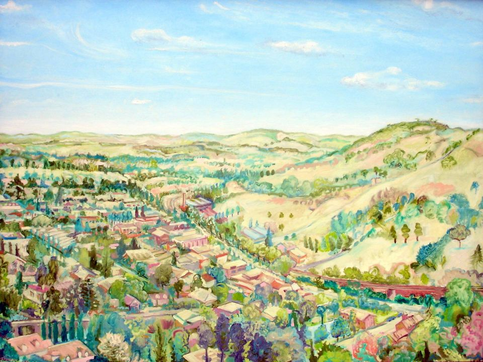 Bowral,NSW Painting, 35point4 H x 47point2 W x 1point2 in Justin Pearson