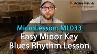 Learn an easy Minor Key Blues Rhythm in this Blues Rhythm Guitar Lesson - ML033