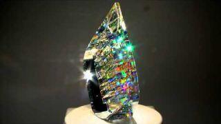 Optical Glass Sculptures by fine art glass artist Jack Storms