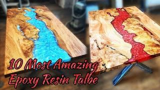 10 Epoxy Resin Table! Woodworking Projects and Ideas